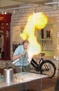 Image; Richard Ellam performing the Fire Show